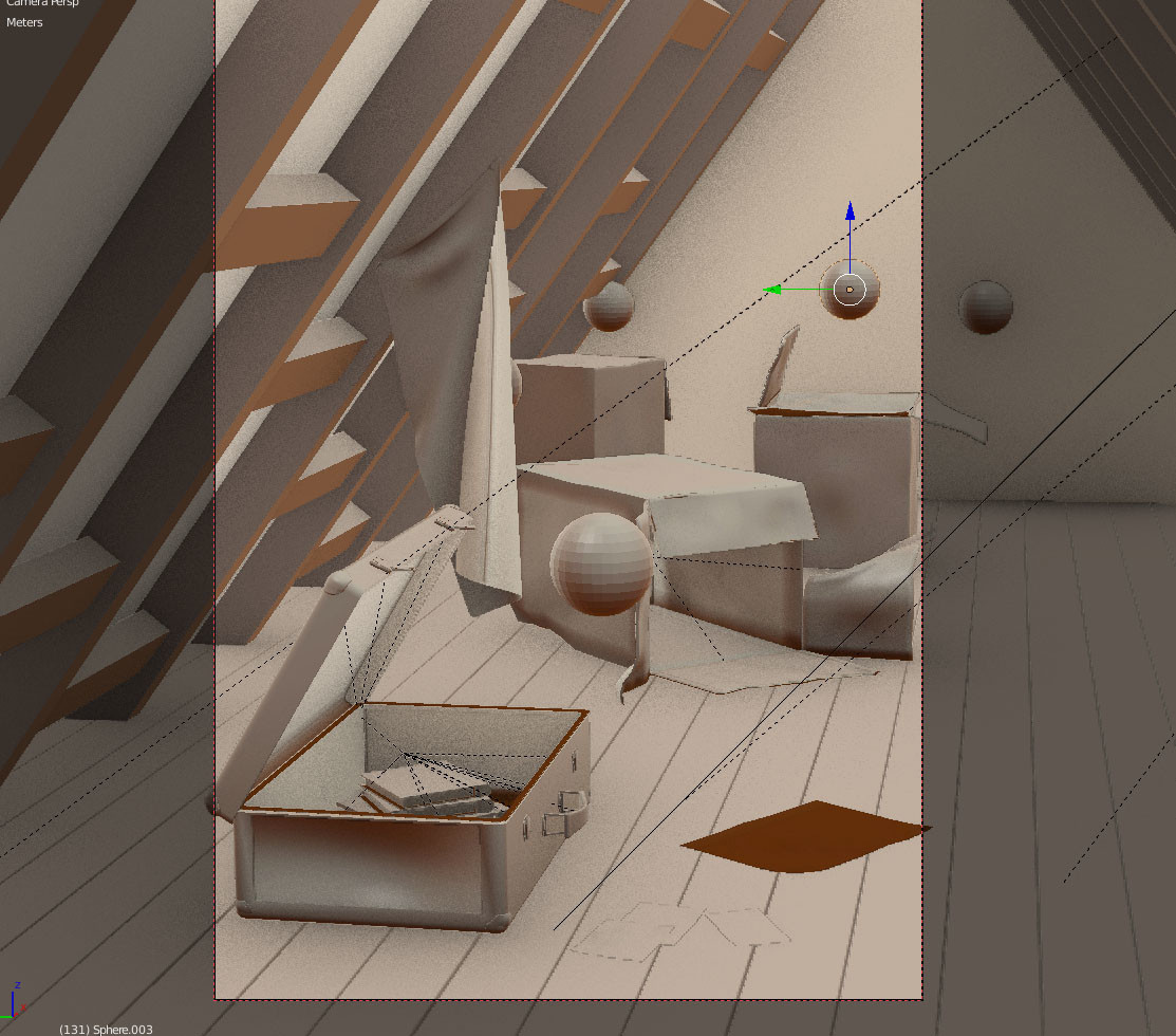 Memory bank screenshot of 3d model scene