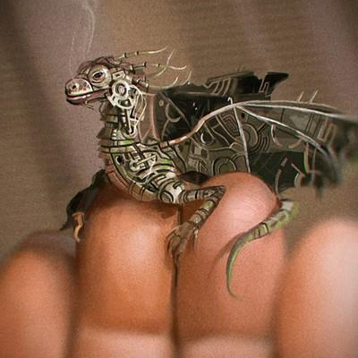 Christopher michael walker dragon spitpaint