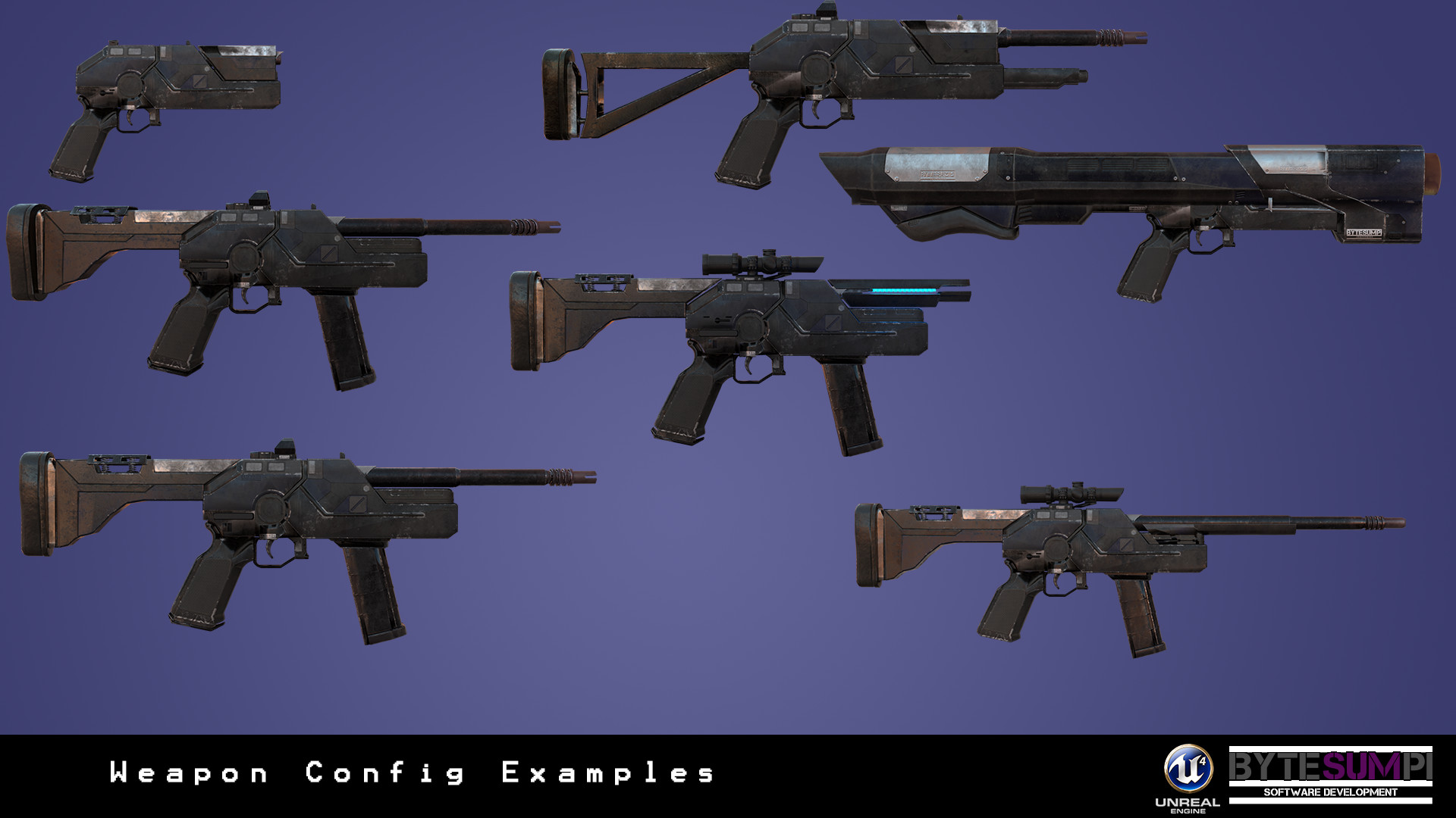 ArtStation - Modular Weapon System for Unreal Engine 4, Stuart Speirs