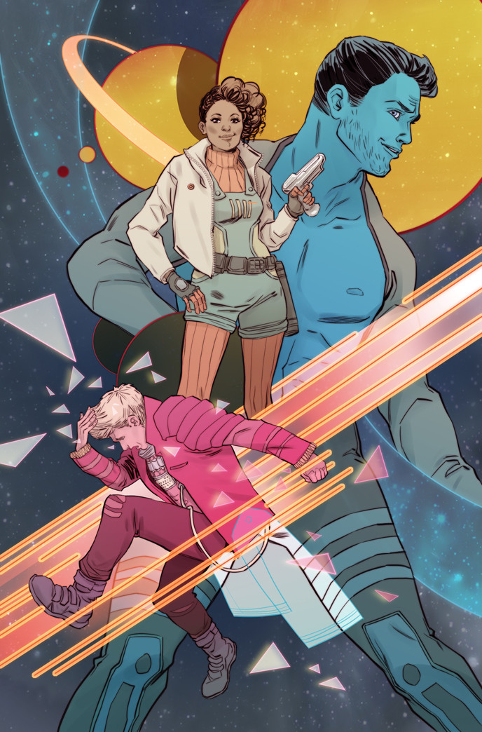 Variant cover for WASTED SPACE, SF series  by Hayden Sherman and Michael Moreci published by Vault Comics.