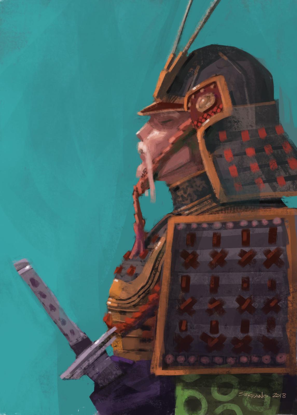 iPhone Painting: Samurai