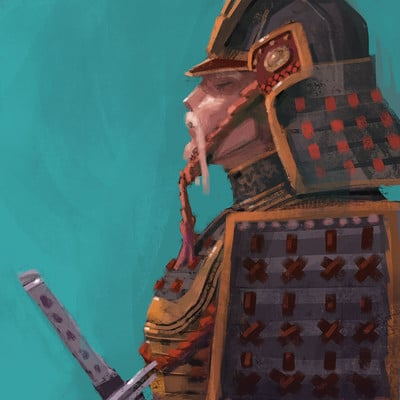 iPhone Painting: Samurai