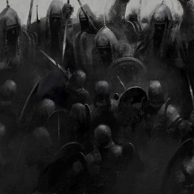 iPad painting: Stand Against The Giants