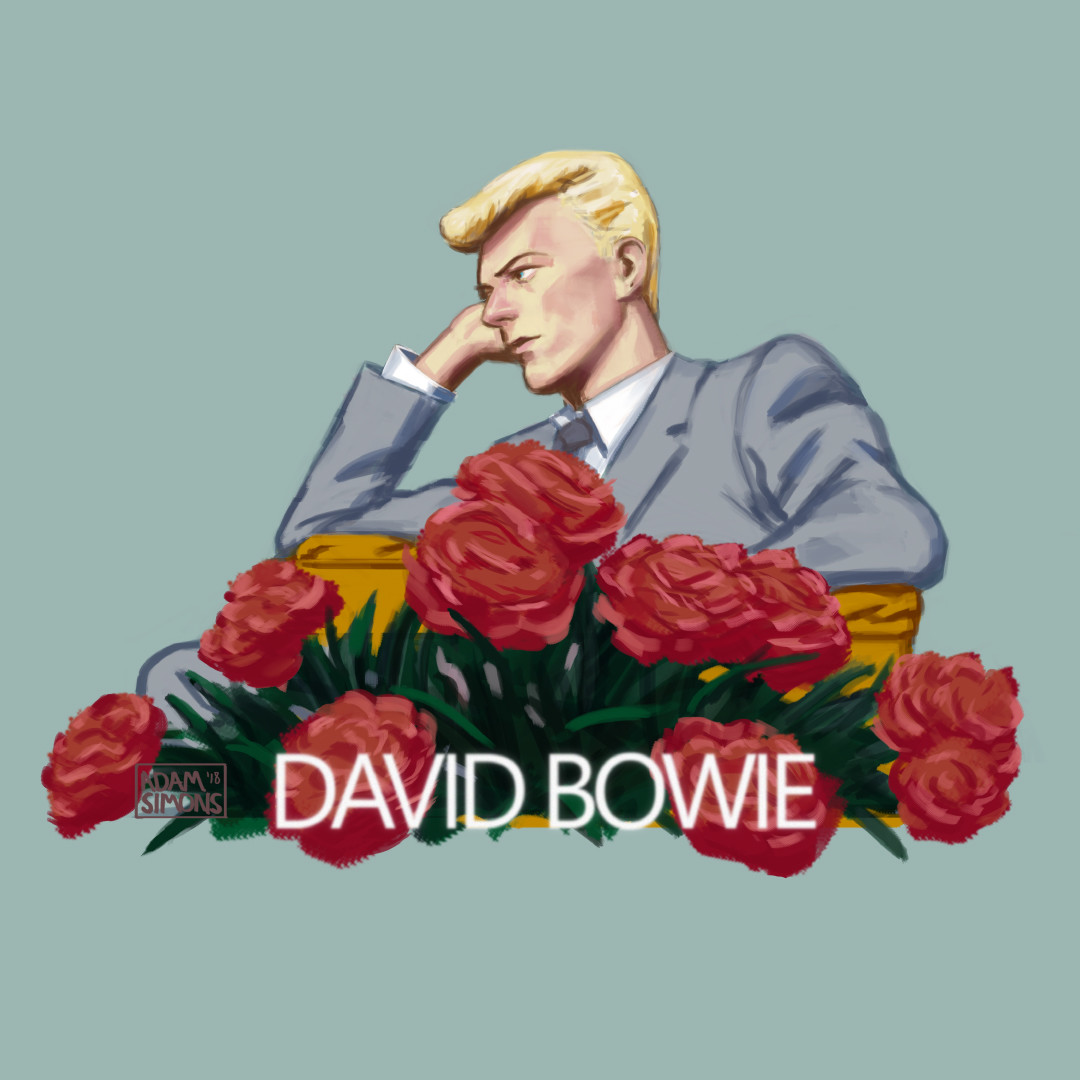 Dave and some flowers