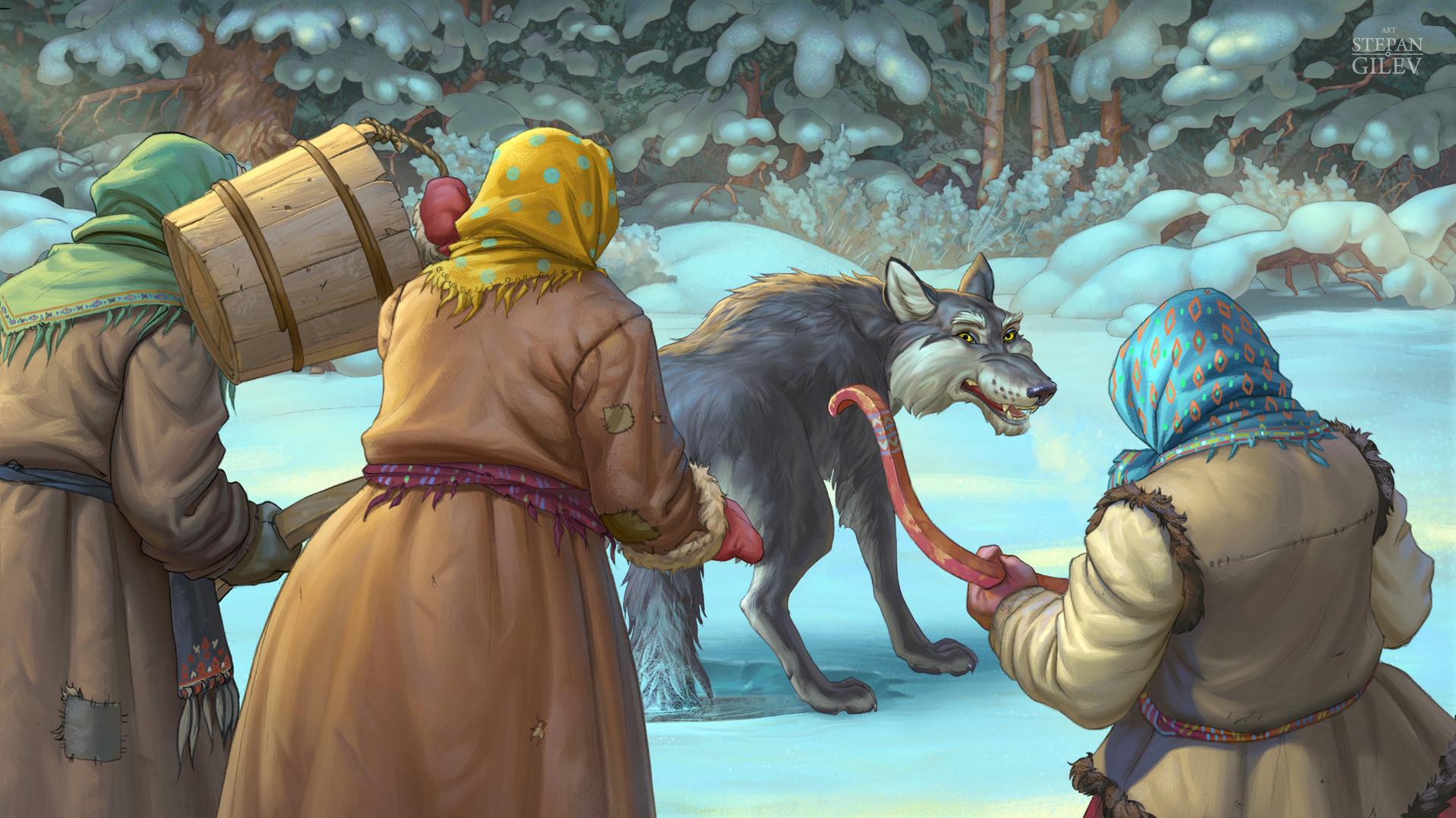 картинки к сказке лиса и волк