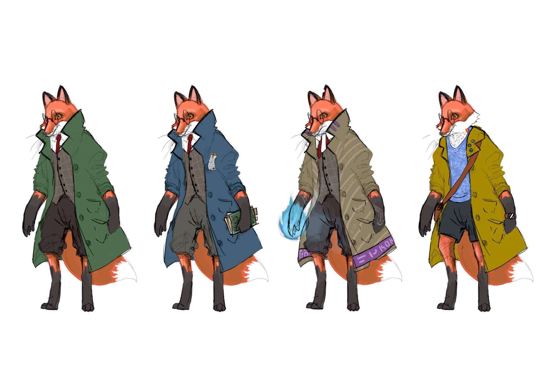 Since this was to be a quick concept for a character, I didn't spend too much time rendering it all out. 