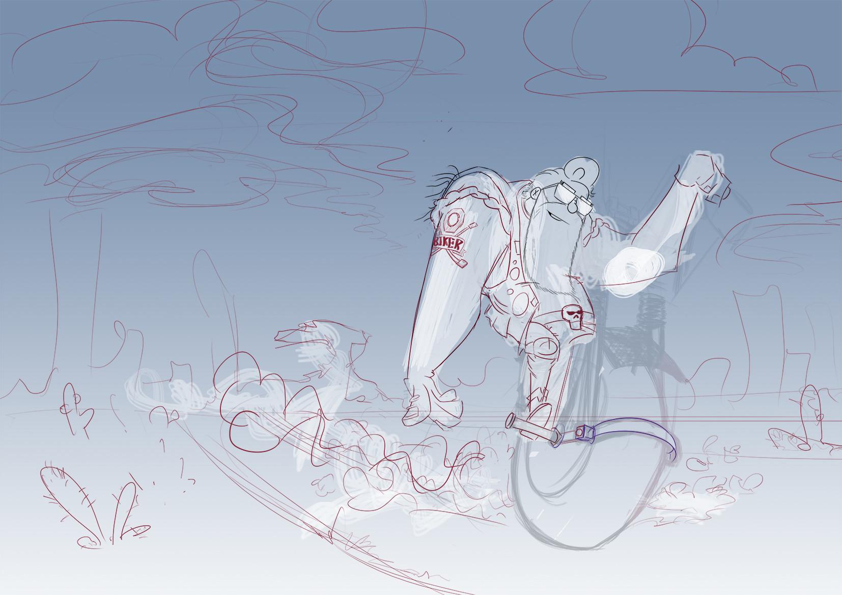 Mariano musante biker sktch05