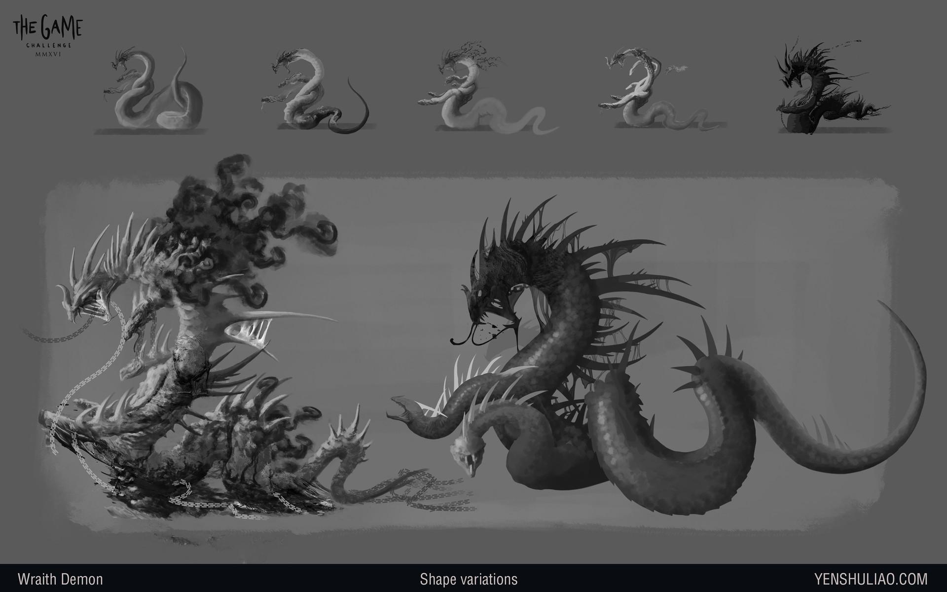Yen shu liao demon dragon creature concept art02