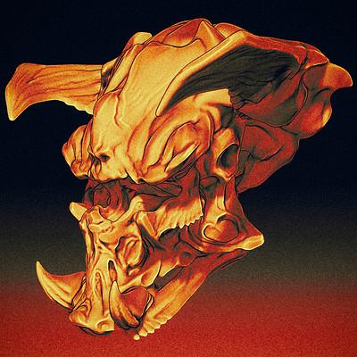 Quadmech skull doodle 01