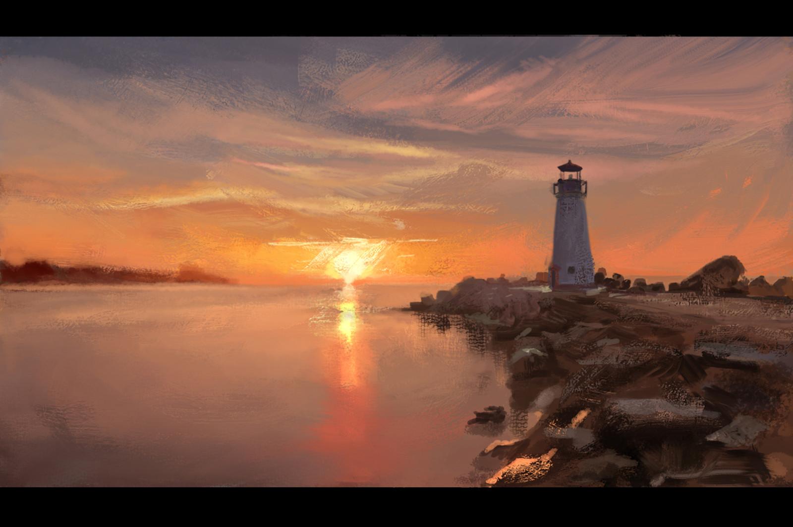 Lighthouse Stylized Color Studies