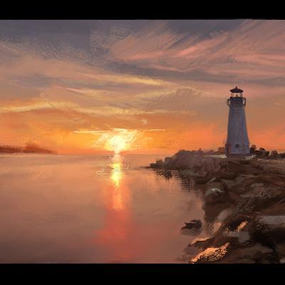 Dennis van kessel lighthouse sunset 03