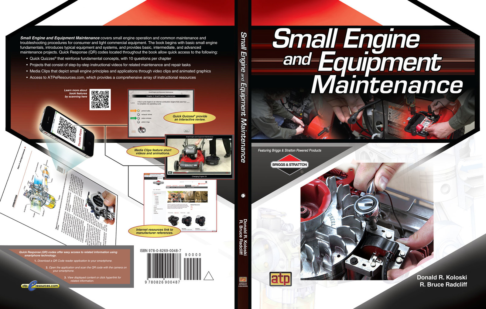 This was a softcover book with a design meant to mimic the Briggs and Stratton logo. I created the design in Adobe Photoshop with final text touches in Adobe Illustrator.