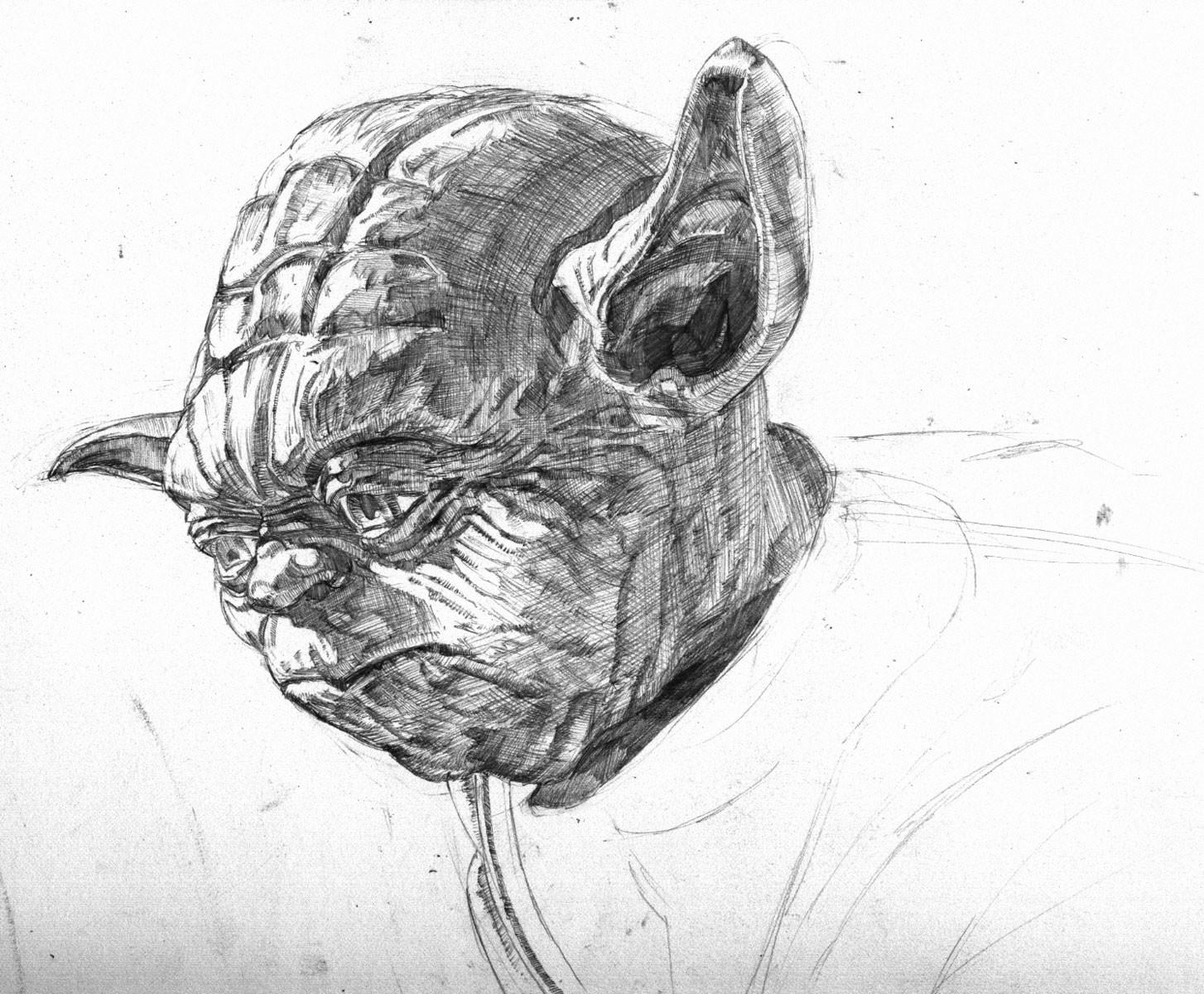 Tight pencil drawing in-progress