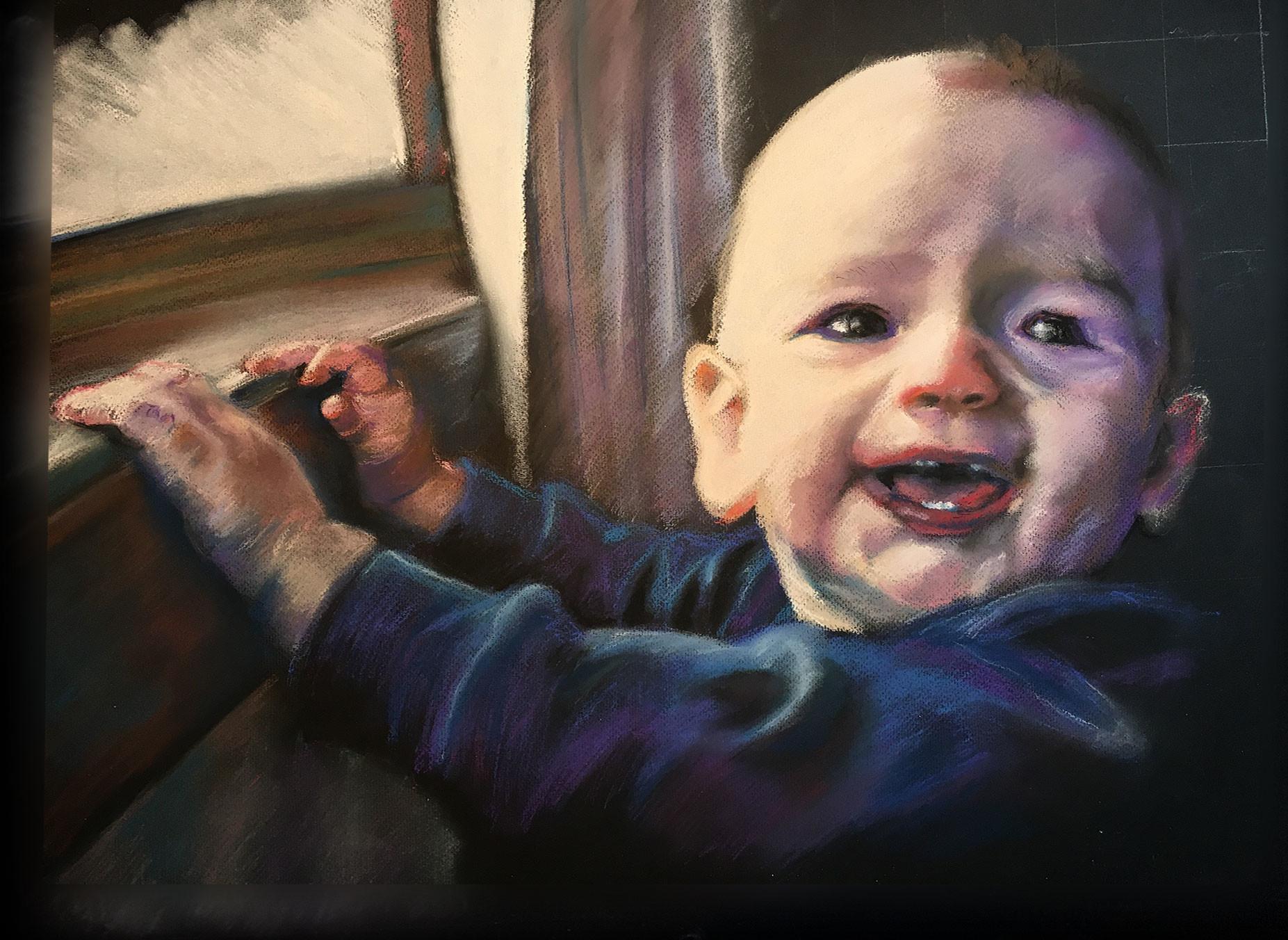 """Final Portrait, 18"""" x 24"""", soft pastel on paper"""