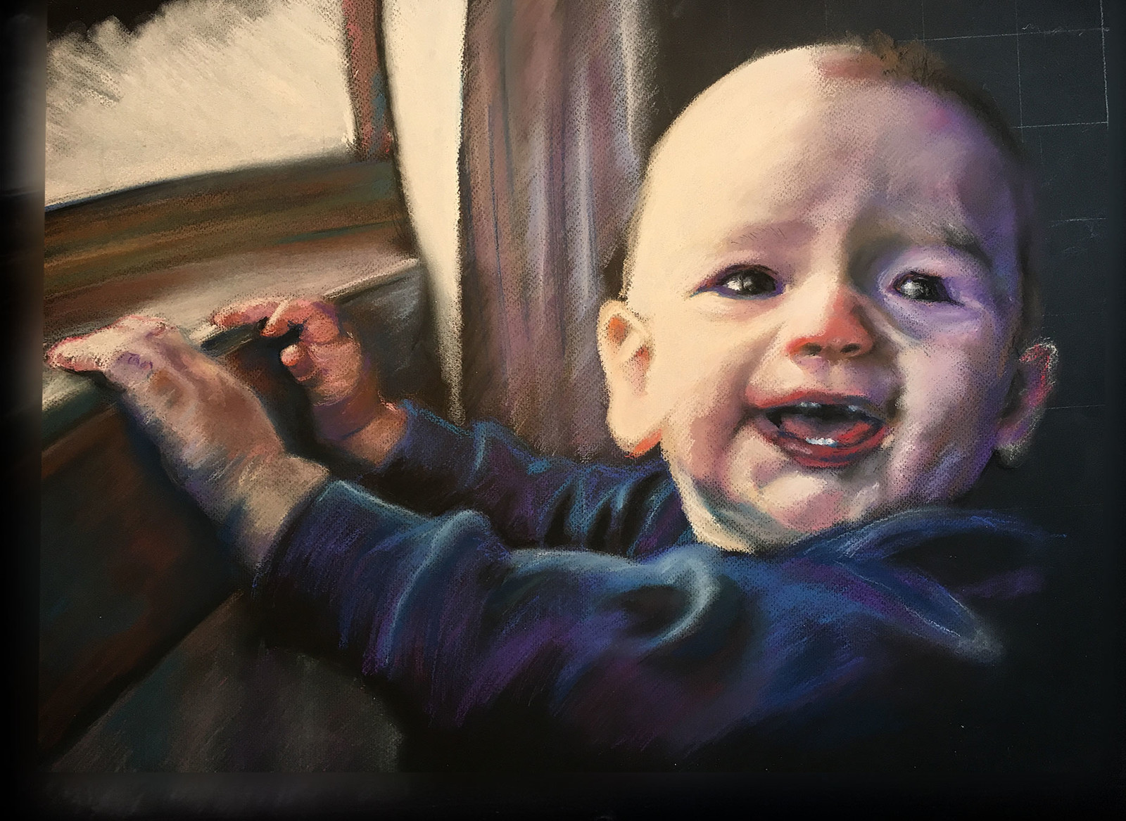 "Final Portrait, 18"" x 24"", soft pastel on paper"