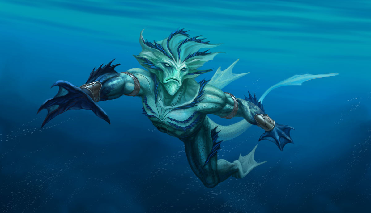 Image result for Water lizard creatures fantasy