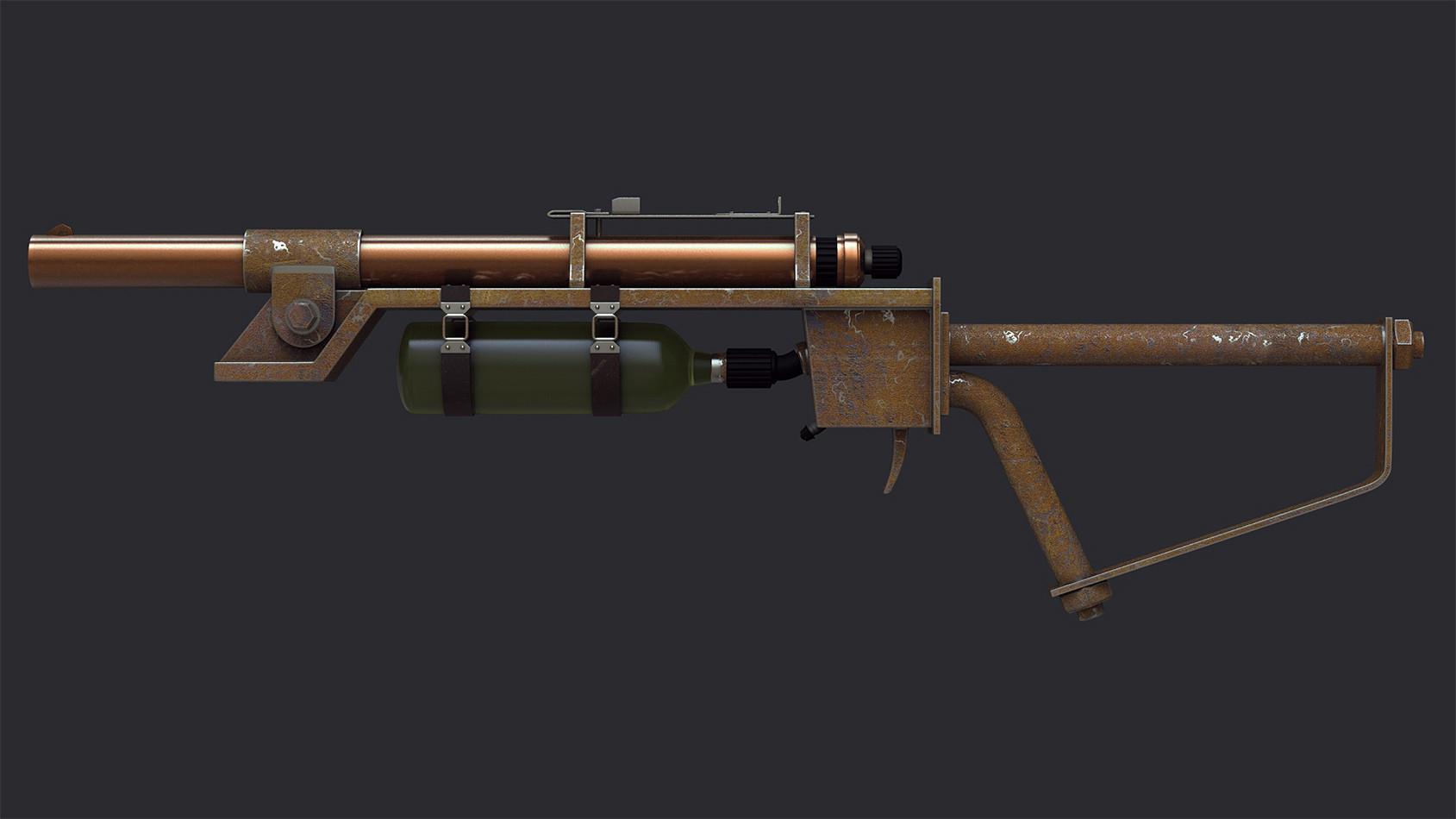 Ste flack fallout syringer rifle 01
