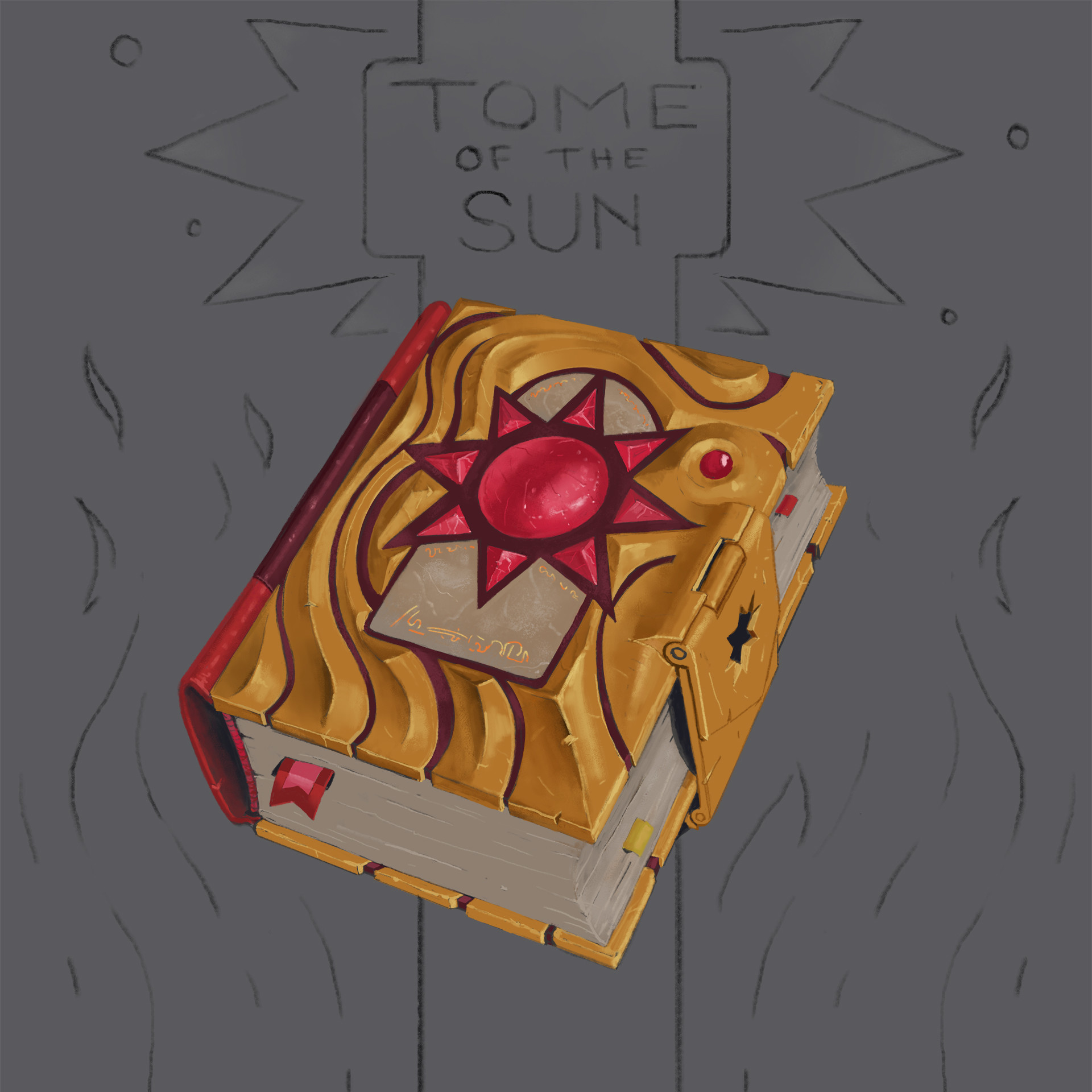 Michael loos tome of the sun illustration