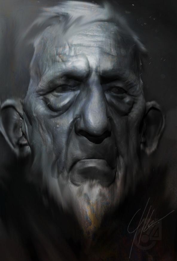 Yarrid henrard sketch face old