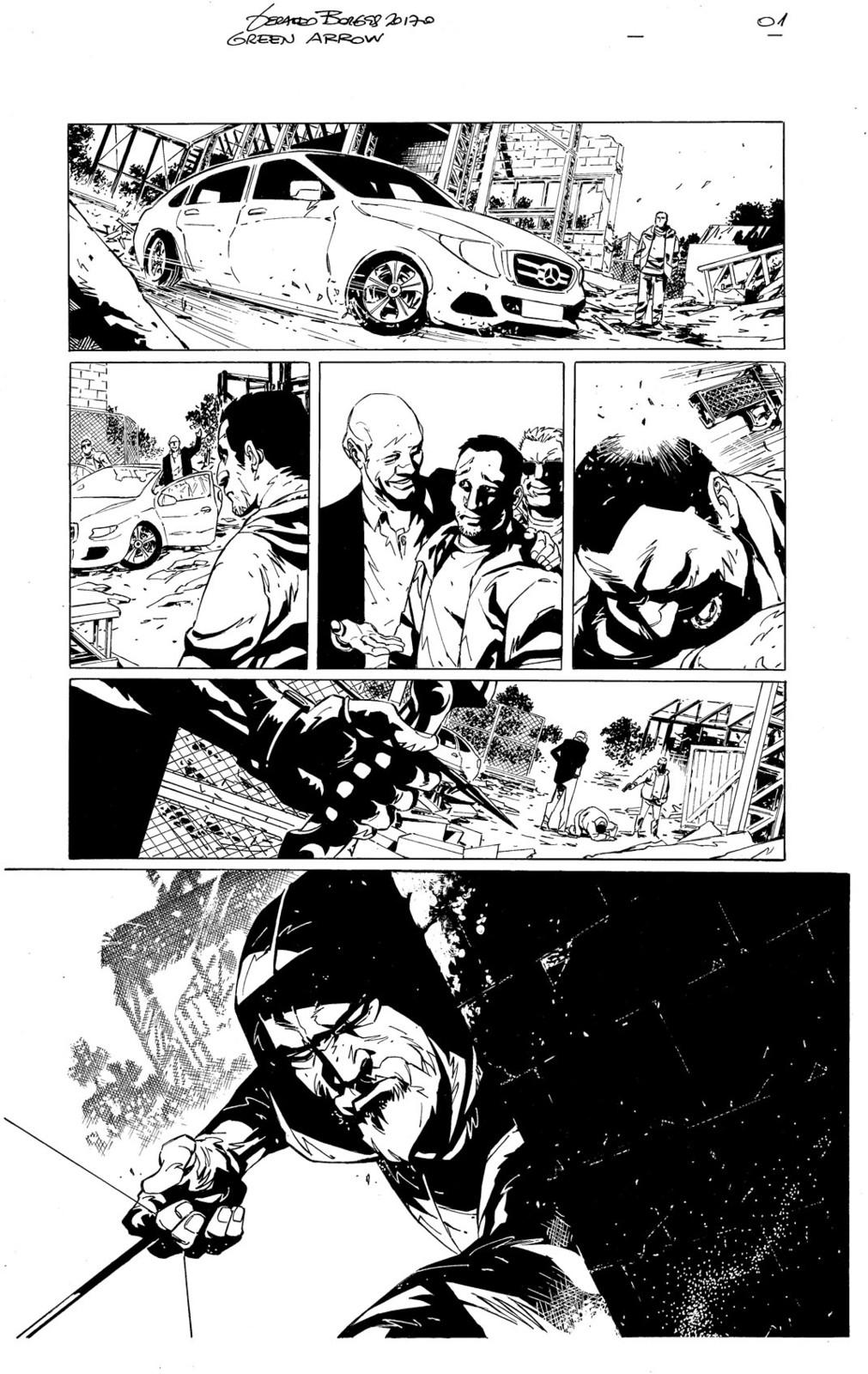 Green Arrow sample page 01