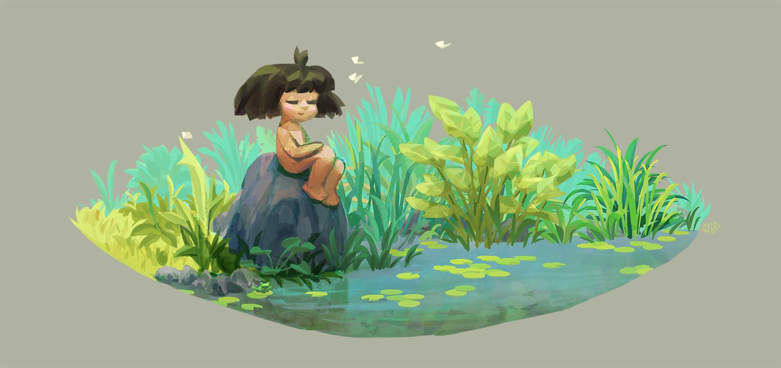 Iris muddy a ponds