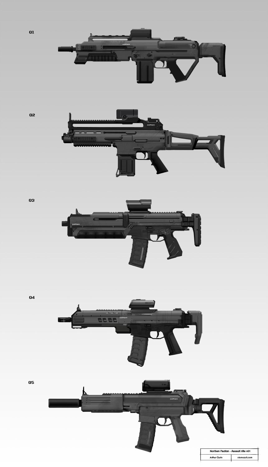 Arthur gurin nfaction rifle sketches