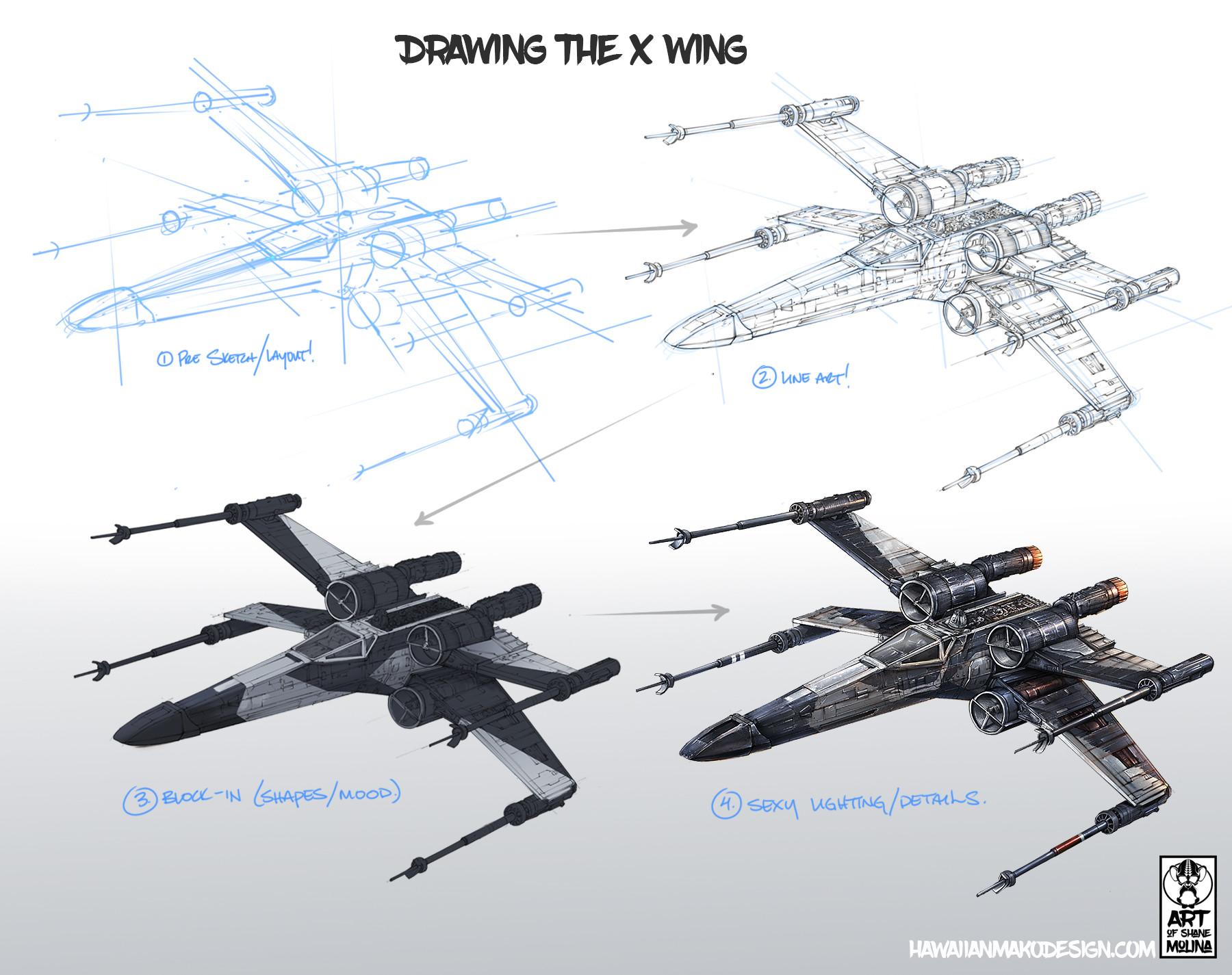 Shane molina partisan x wing2 wip