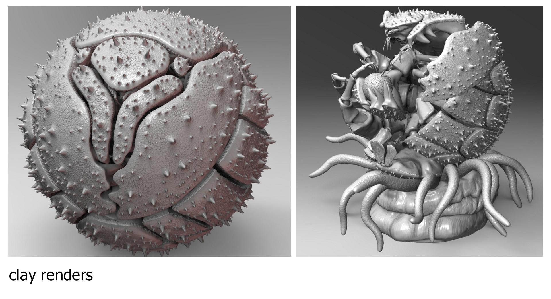 Dariusz andrulonis 10 clay renders