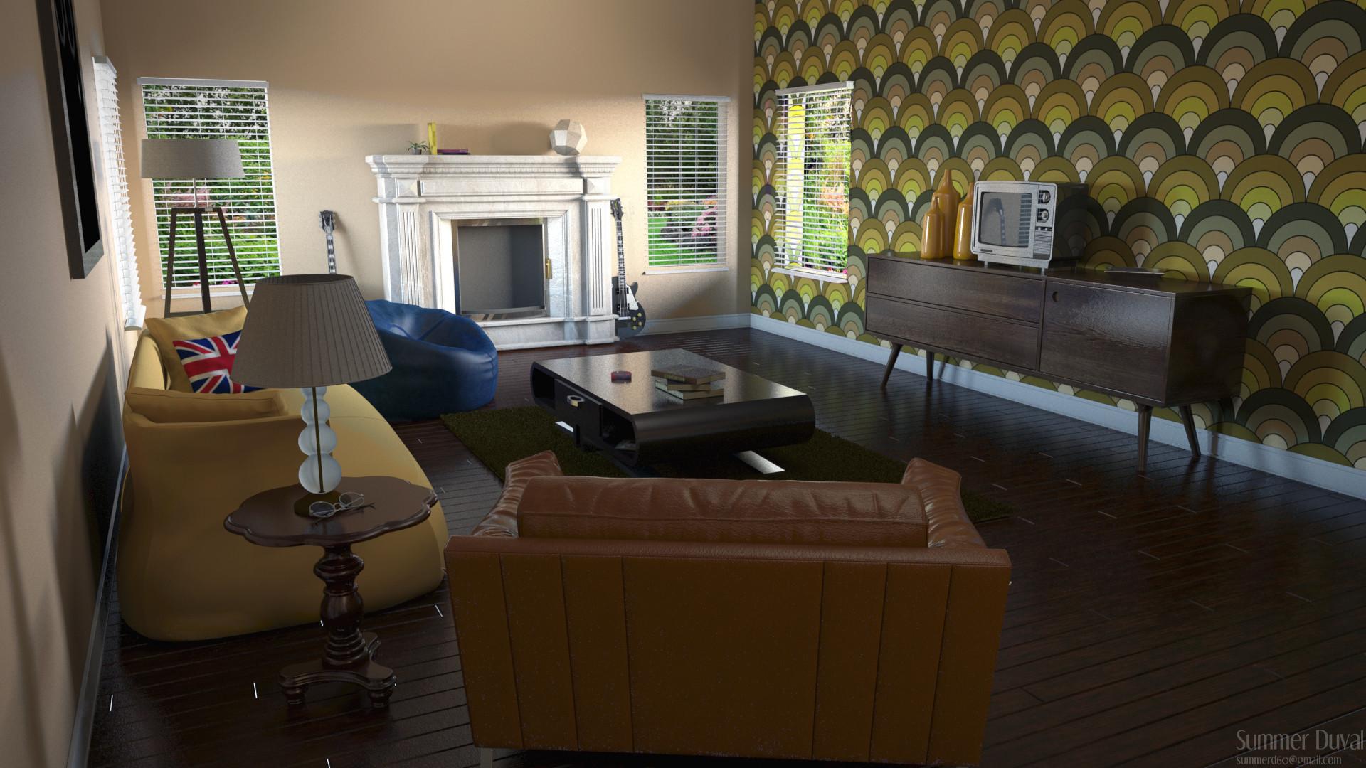 Summer Duval 3D Modeler - John Lennon\'s Living Room