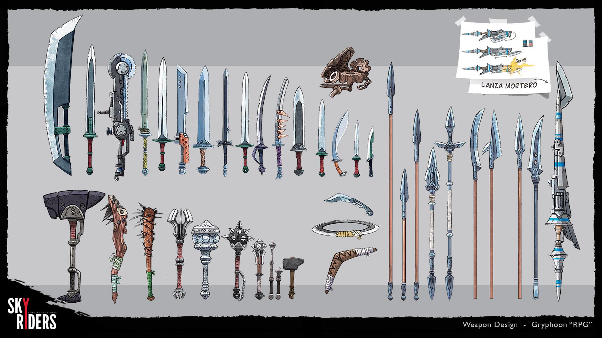 Sky riders gryphoon weapons