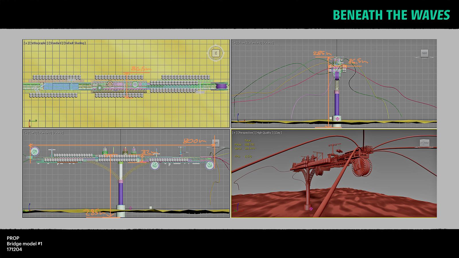 Viewport screenshot of the bridge model.