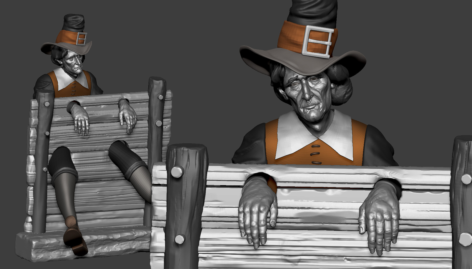 WIP block in Zbrush - based upon a concept by Norman Rockwell