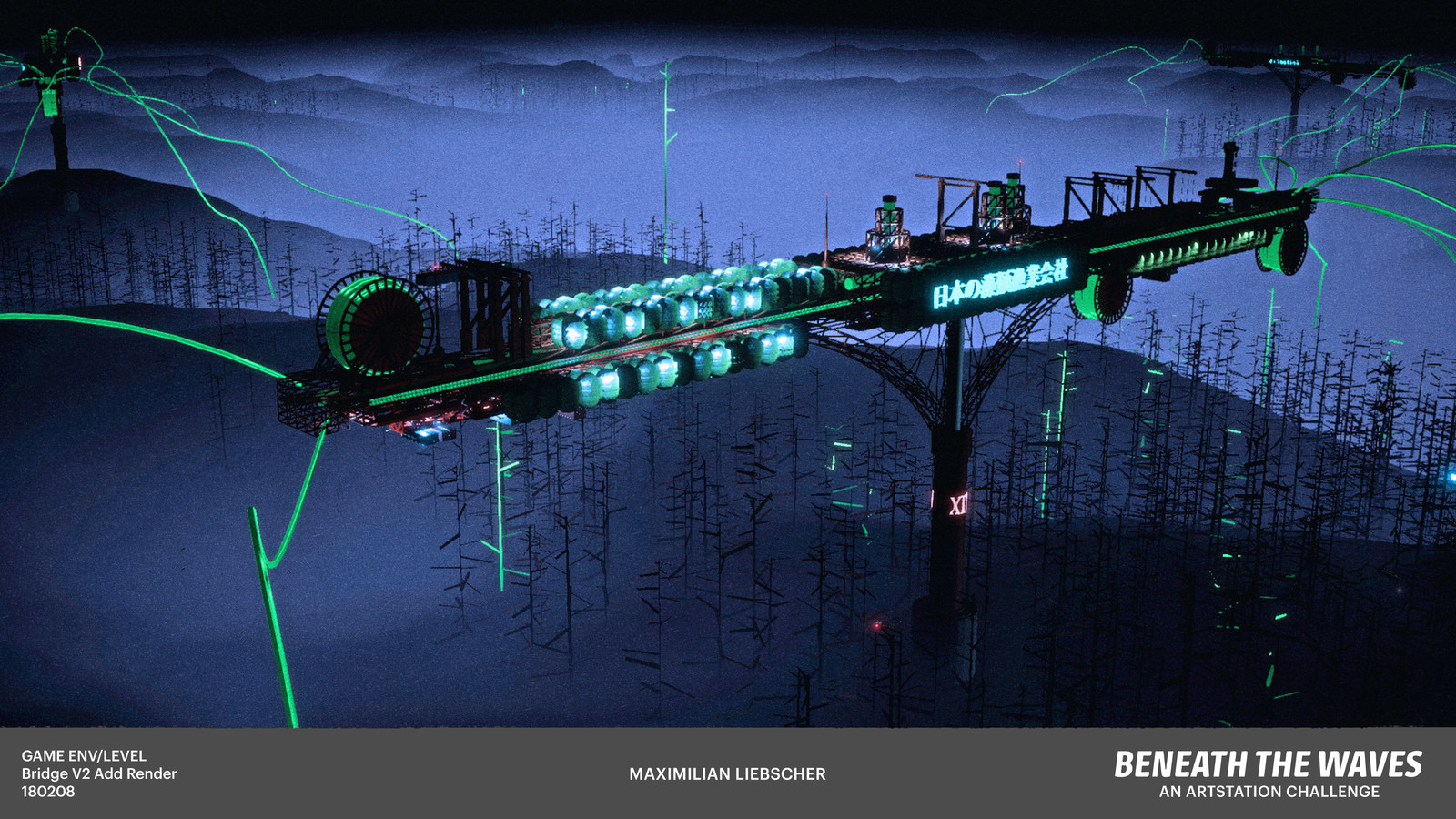 The conveyor bridge reaches out its deadly arms into the forests