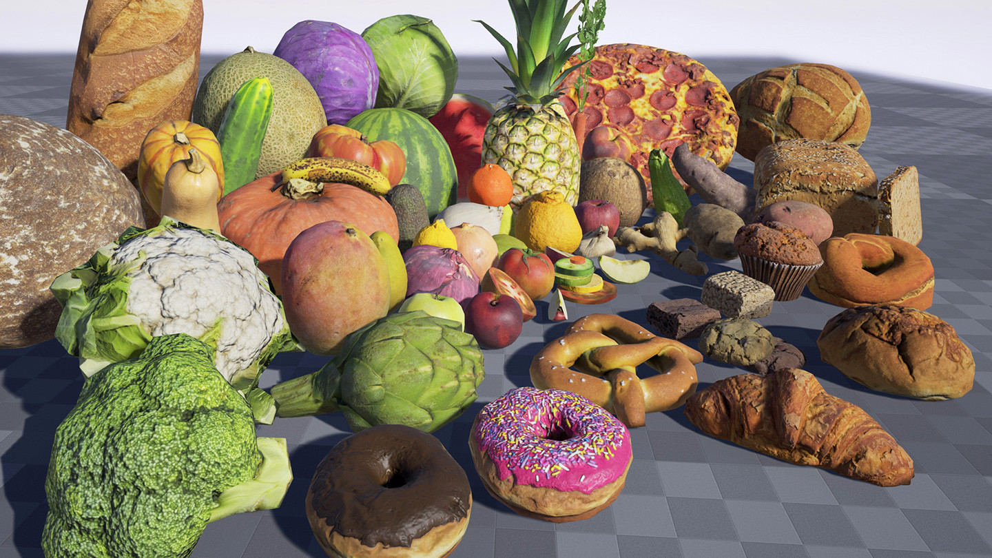 Photoscanned Food