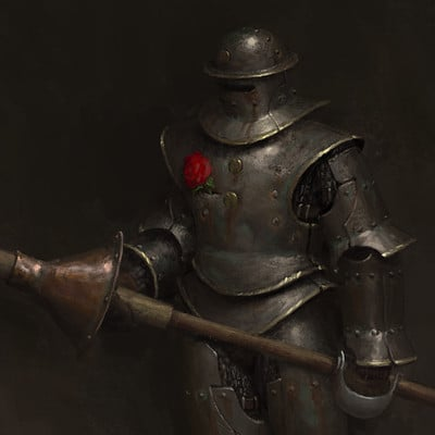 Anton solovianchyk solovianchyk knight with a rose