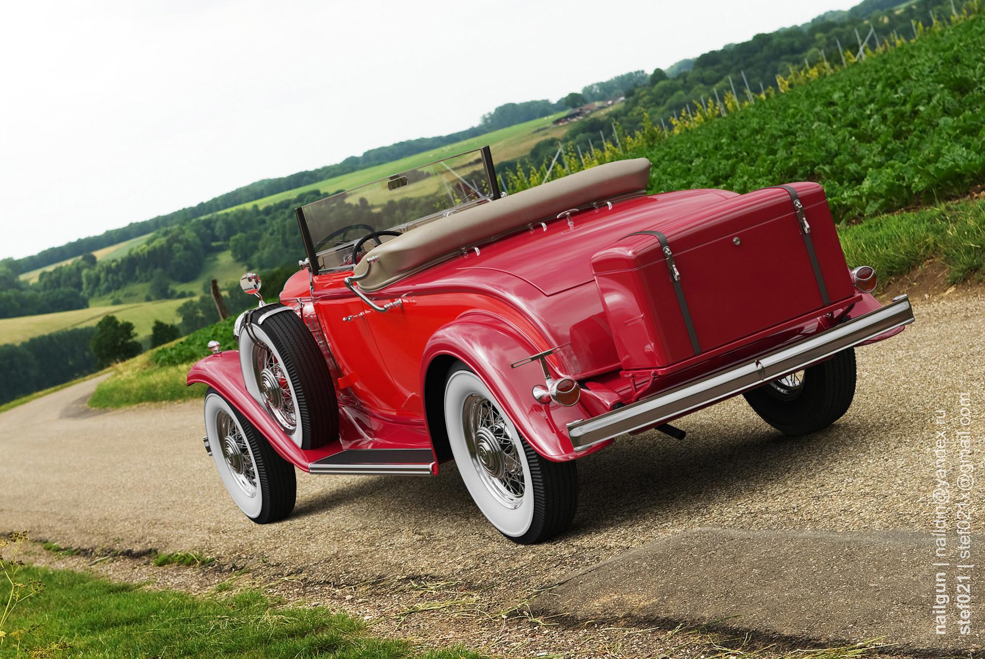 Nail khusnutdinov a0002 buick 96s 1932 roof down back rox