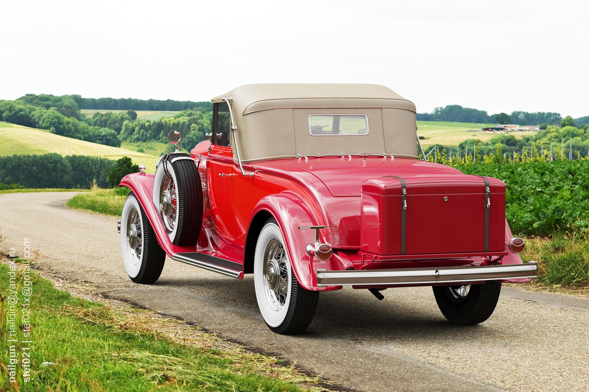 Nail khusnutdinov a0002 buick 96s 1932 roof up back rox
