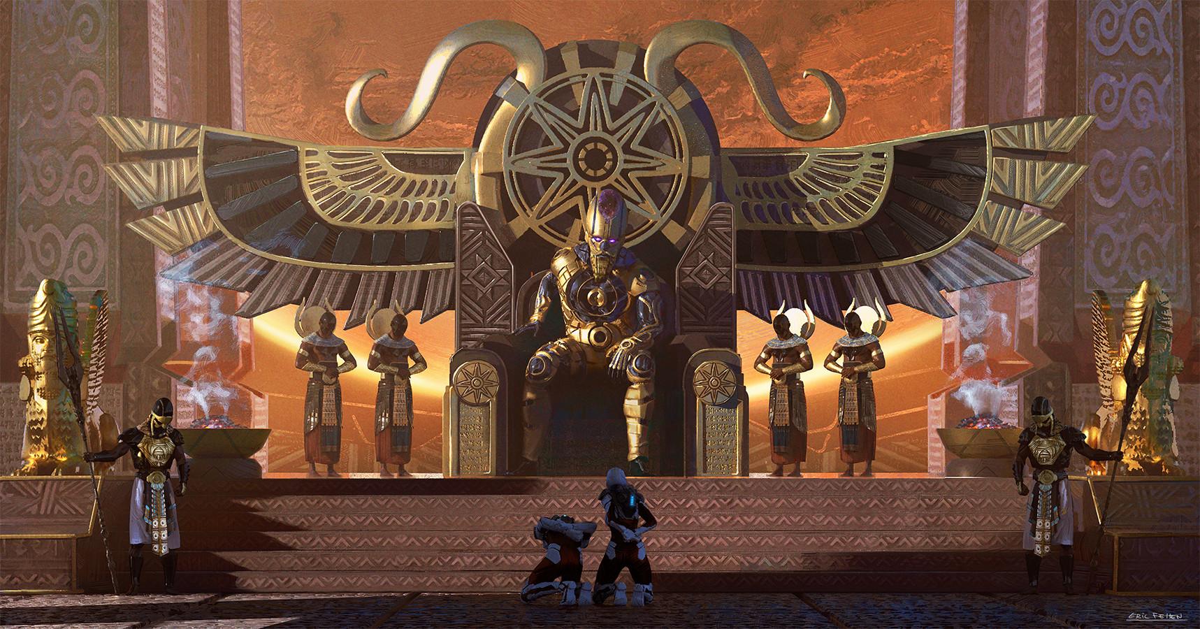 ArtStation - Enki, Sumerian god of creation, Eric Felten