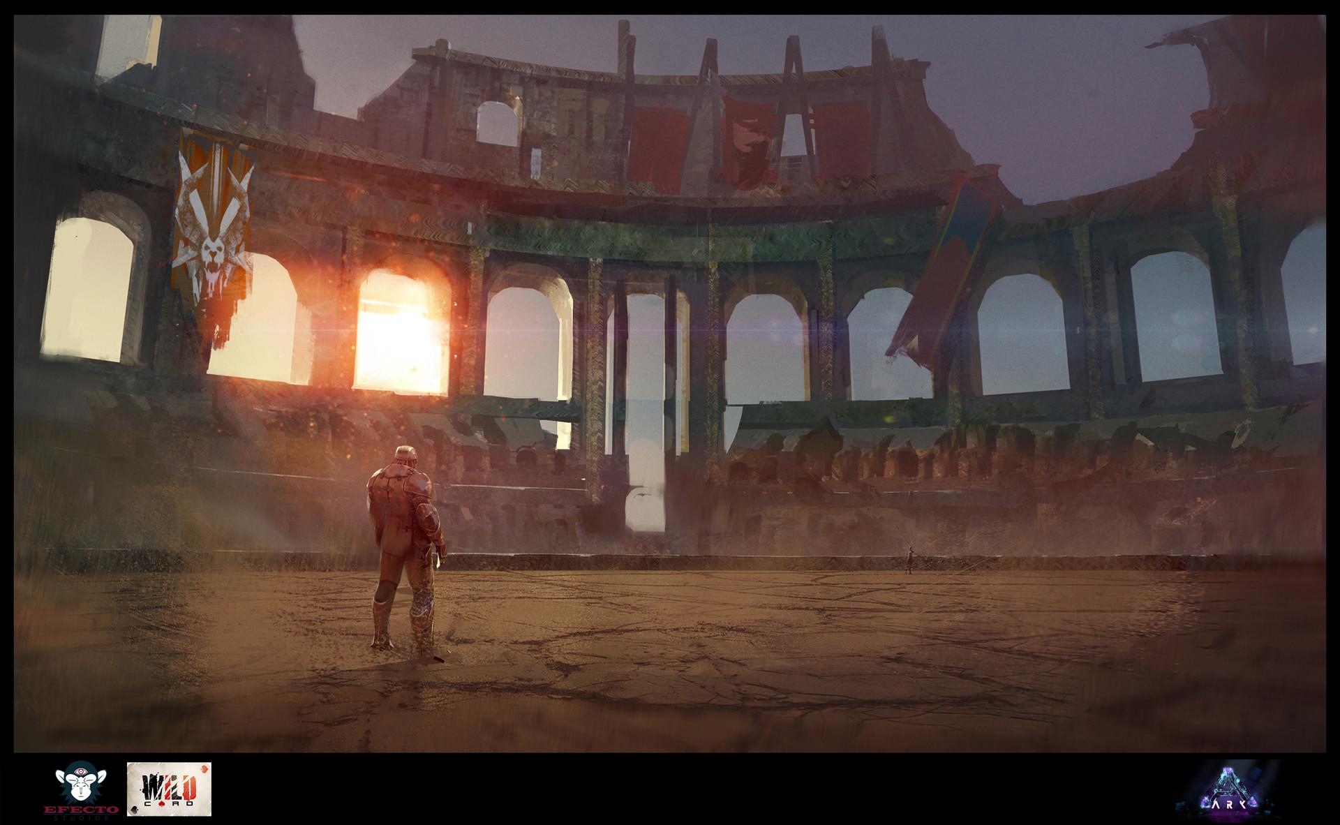 Artstation Ark Se Colosseum Sebastian Kowoll