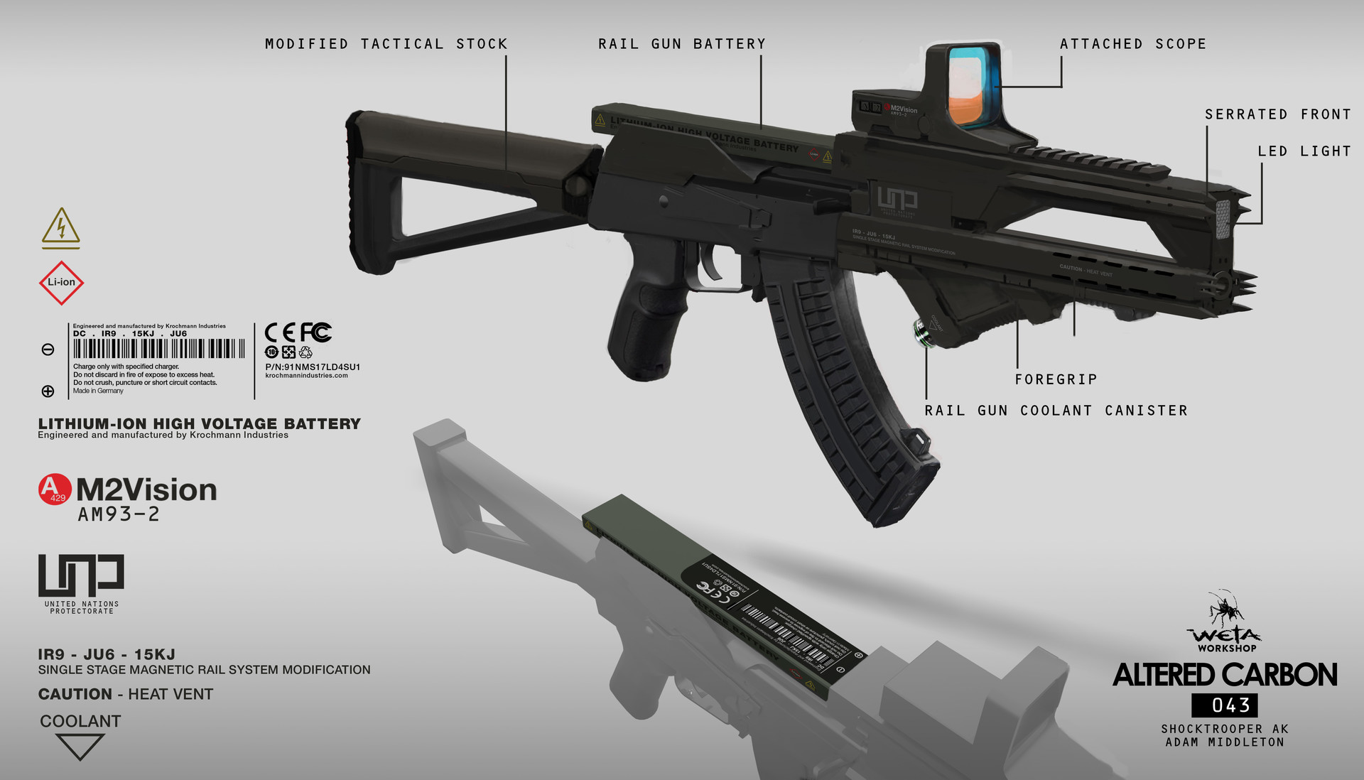 Weta workshop design studio 043 ac shocktrooter ak gun 02breakdown am