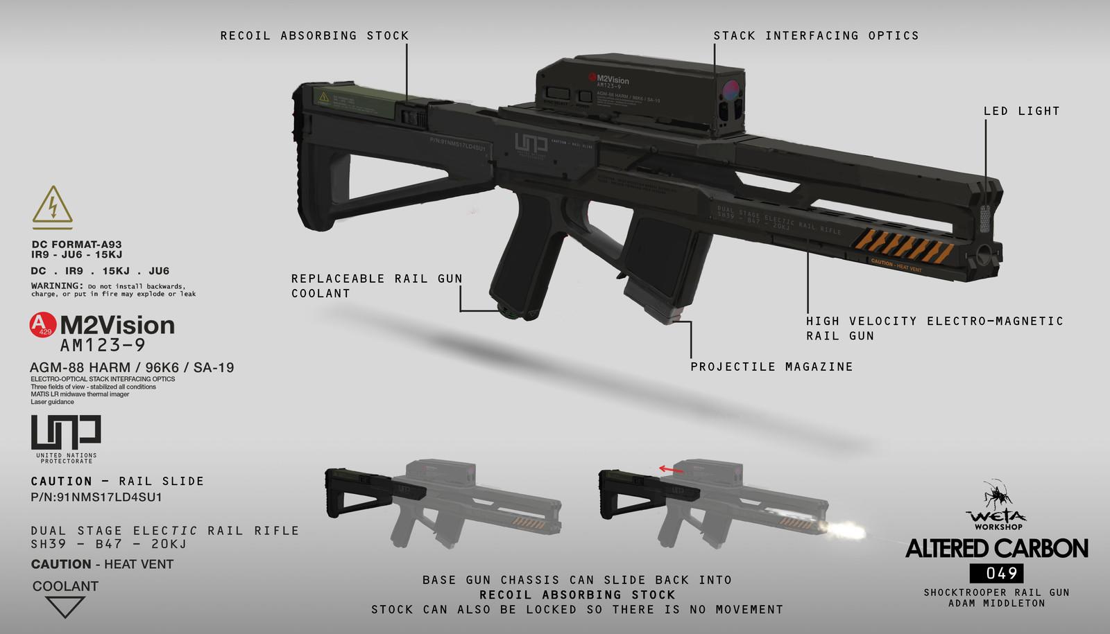 Shock Trooper Rifle - Artist: Adam Middleton