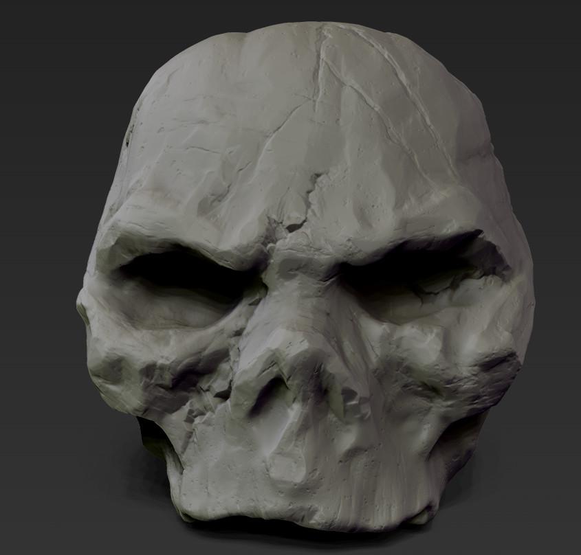 Cynicat pro zbrush old skull 2
