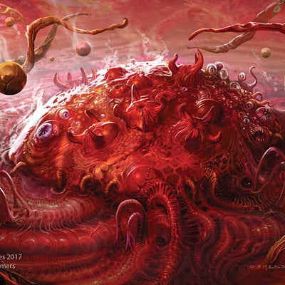 Stephen somers yog sothoth in red