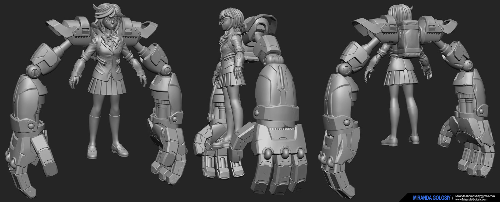 High poly sculpt done in ZBrush