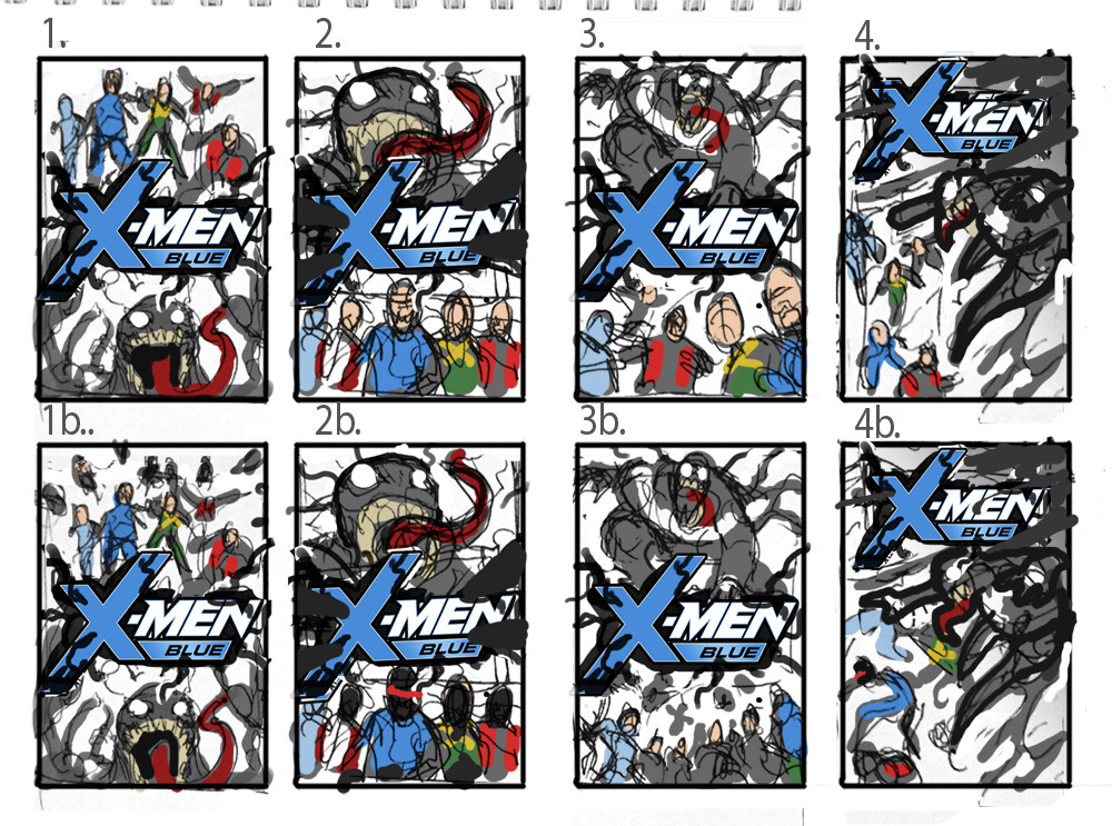 David nakayama xmen blue layouts