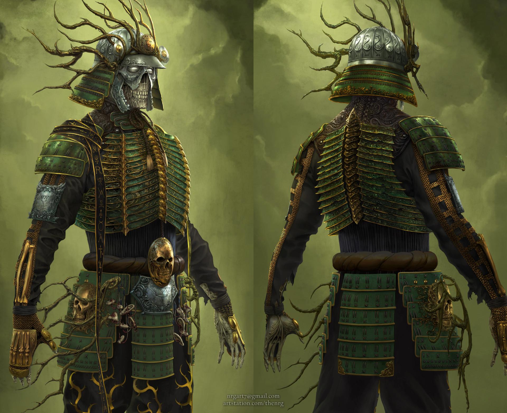 The nrg tsumetai ikari death samurai statue concept design by nrg crop10