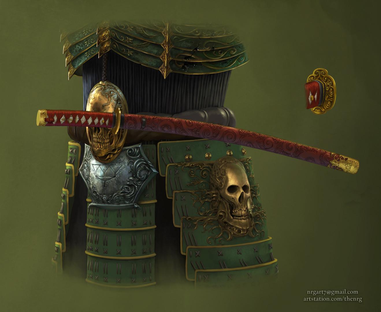 The nrg tsumetai ikari death samurai statue concept design by nrg crop12