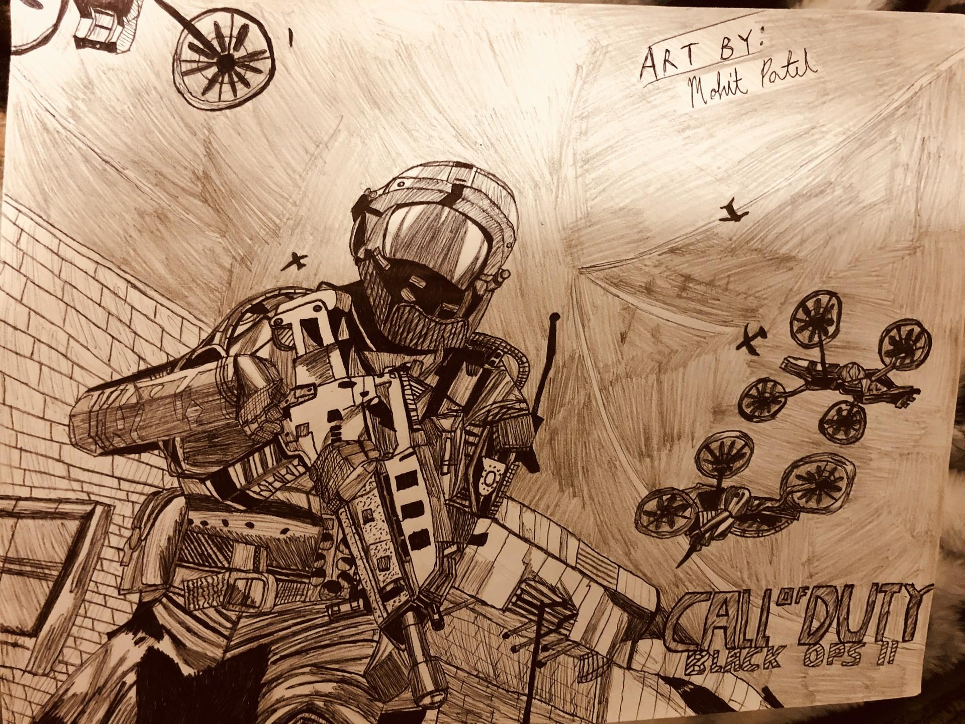 Artstation Call Of Duty Black Ops Ii Fan Art Mohit Patel