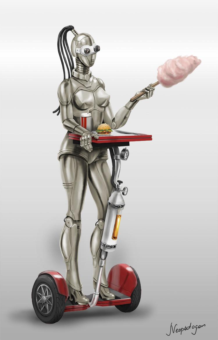 Retrofuturistic robot