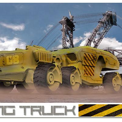 German impache 8x8 mining truck 1